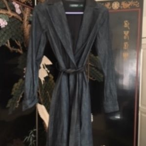Ralph Lauren Denim Dress With Leather Detail
